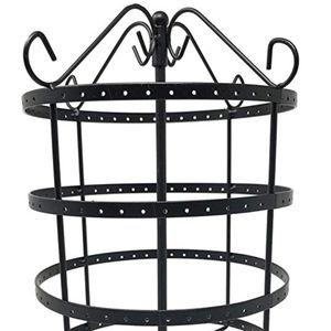 4 Tiers Black Rotating 92 Pairs Earring Holder